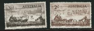 Australia  Scott 281-282 used Royal Mail coach stamp set