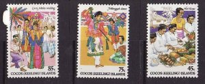 Cocos (Keeling) Is.-Sc#108-10-unused NH set-Festive Occasions-1984-