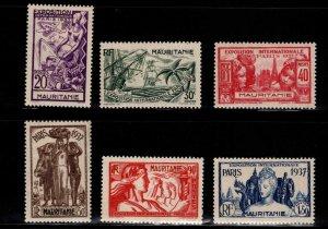 Mauritania Scott 69-74 MH*1937 Paris Exhibition set