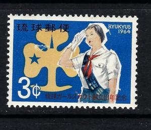 Ryukyu Is 121 MNH 1964 Girl Scouts
