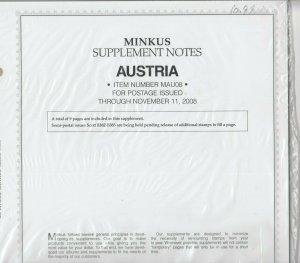 Minkus Album Supplement Austria Singles Issues Through Nov 2008