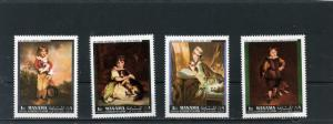 MANAMA 1968 PAINTINGS SET OF 4 STAMPS MNH