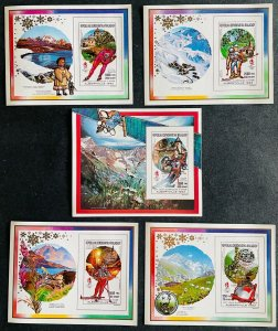 S/S & Deluxe Blocks Stamps Gold Overprint O.G Albertville 92 Madagascar IMperf.