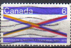CANADA, 1970 used 6c. Centenary of Manitoba.