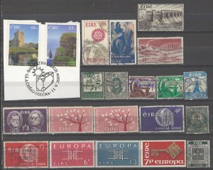 COLLECTION LOT # 3716 IRELAND 21 STAMPS 1930+ CV+$33