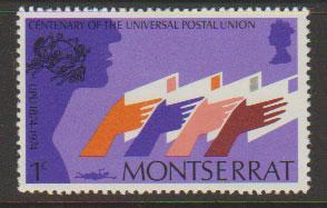 Montserrat SG 329 - Mint Light Hinge  - UPU