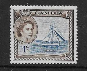 GAMBIA  154 MINT HINGED  CUTTER,  QE2