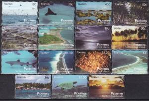 Penrhyn Island  #487-501  MNH CV $23.00 (A19970)