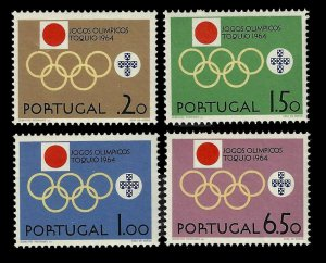 Portugal 1964 Set of 4 single stamps Scott #936-9 MNH Summer Olympic Games