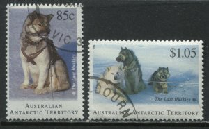 Australia Antarctic Territory 1994 Sled Dogs 85 cents and $1.05 used