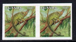 Uganda 1995-98 Reptiles - Three-Horned Chameleo 150s impe...