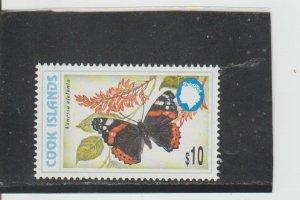 Cook Islands  Scott#  1226G  MNH  (1998 Red Admiral Butterfly)