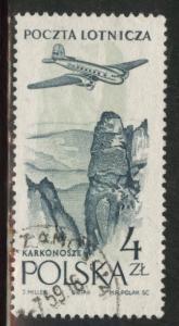 Poland Scott C45 used  airmail 1957-58