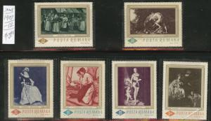 ROMANIA Scott 1907-12 MNH** Painting set  of 1967