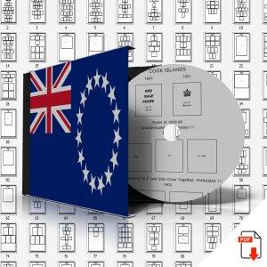 COOK ISLANDS STAMP ALBUM PAGES 1892-2011 (280 PDF digital pages)