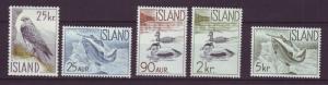 J19186 Jlstamps 1959 iceland set mnh #319-23 wildlife