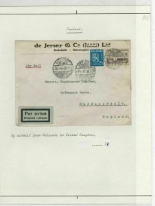 Finland 1935 Airmail Cover To England Ref: R6302