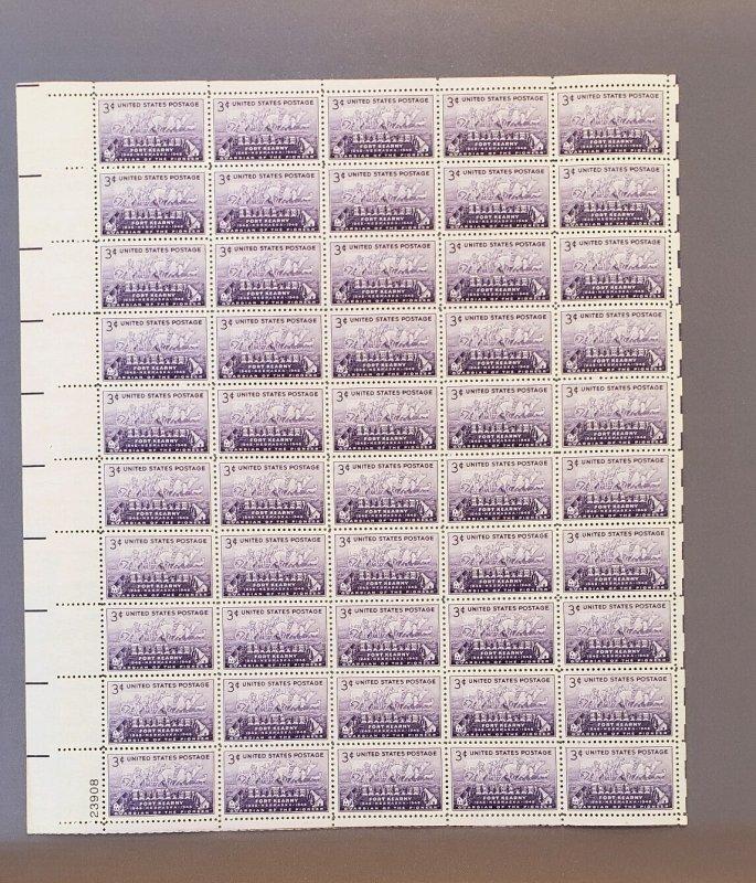 970, Fort Kearny, Mint Sheet, CV $17.00