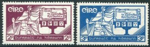 HERRICKSTAMP IRELAND Sc.# 99-100 1937 Constitution Mint NH