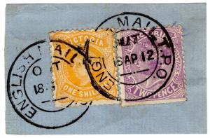 (I.B) Australia Postal : Victoria 1/2d (English Mail TPO)