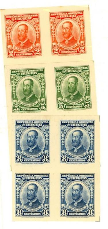 Uruguay Scott 391a-393a Mint NH (Catalog Value $25.00)