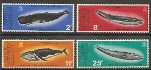 British Antarctic Territory 64-7 1977 Whales set NH