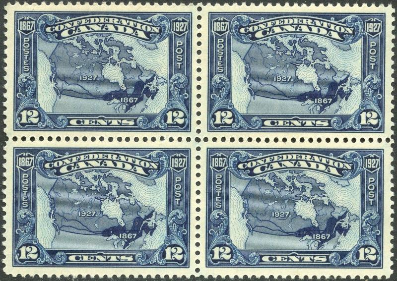 CANADA #145 XF OG NH BLOCK OF 4, SUPERB CV $180.00 BP3662