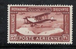 Egypt 1929 Mail Plane in Flight 27m Scott # C2 MH