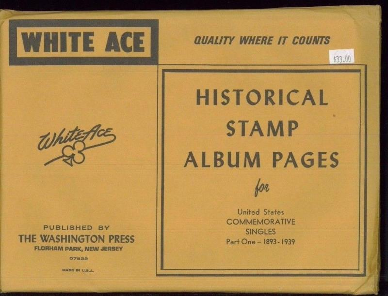 WHITE ACE Historical Album Pages US Commemorative Singles Part One 1893-1939