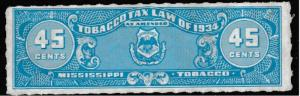 USA State Revenue #Stamps Miss.~T221a