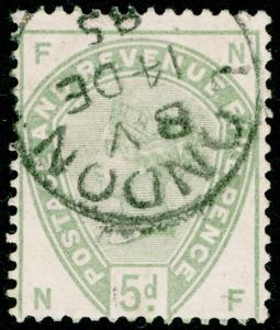 SG193, 5d dull green, USED, CDS. Cat £200. NF