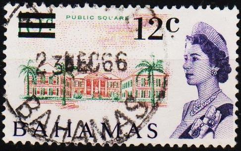 Bahamas. 1966 12c on 10d S.G.281 Fine Used