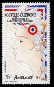 New Caledonia (NCE) Scott 615 MNH** French Revolution Bicentennial