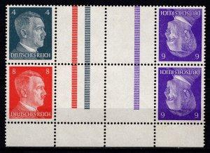 Germany 1941 Adolf Hilter, Marginal Interpane Block [Mint]