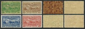 Philippines 522-524 hinged,C67 MNH. Conference of FAO,Bagio,1948.Threshing.