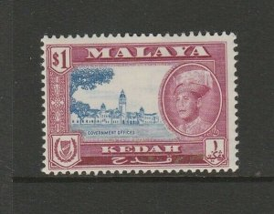 Malaya Kedah 1959/62 Defs $1 MM SG 112