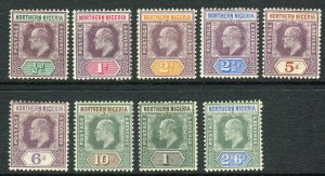 NORTHERN RHODESIA-1902  A mounted mint set to 10/- Sg 10-18