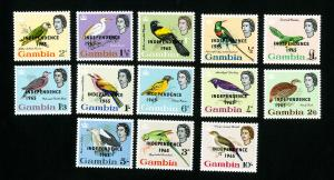Gambia Stamps # 193-205 VF OG NH
