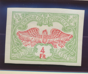 Belgium Stamp Scott #Q46, Mint Never Hinged, Imperforate Variety - Free U.S. ...