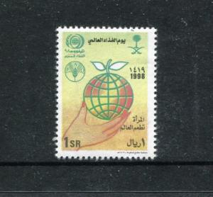 Saudi Arabia 1285, MNH, 1999, World food day 1v Globe, Map. x27309