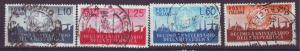 J21616 Jlstamps 1956 italy set used #710-3 arms of republic