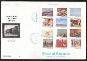 Canada 966a Paintings 1982 House of Commons NR Covers U/A FDC