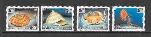 MARINE LIFE - NEW CALEDONIA #737-40  CHINA '96   MNH