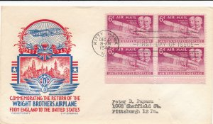 1949 Fluegel First Day Cover C45 Kitty Hawk Wright Brothers Flight Cachet Stamp