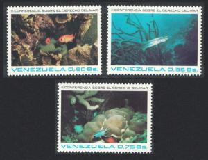 Venezuela Fish 3v Sea Conference SG#2253-2255 SC#1063-65