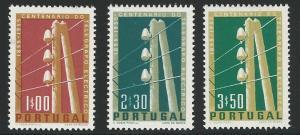 Portugal, 1955, Scott #813-815 Telegraph Pole, complete set, Mint, H, V.F.