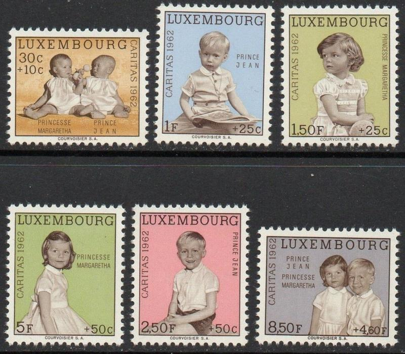Luxembourg 1962 Twins Royal Family VF MNH (B228-33)