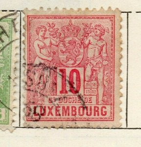 Luxembourg 1882 Early Issue Fine Used 10c. NW-112770