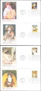 #3804-07 Mary Cassatt Paintings Fleetwood FDC Set