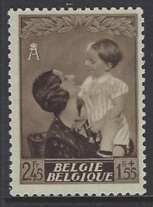 Belgium, Scott #B196;2.45fr + 1.55fr Queen Astrid and Prince Baudouin, MH